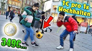 1€ pro FUSSBALL Hochhalten!! **Mädchen machte mich pleite**