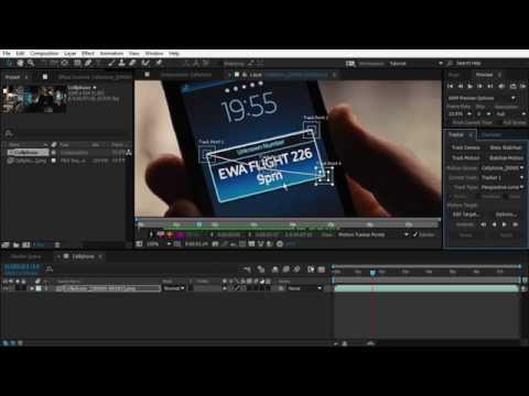 After Effects Motion Tracking Basics Tutorial