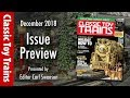 Inside the December issue of Classic Toy Trains magazine