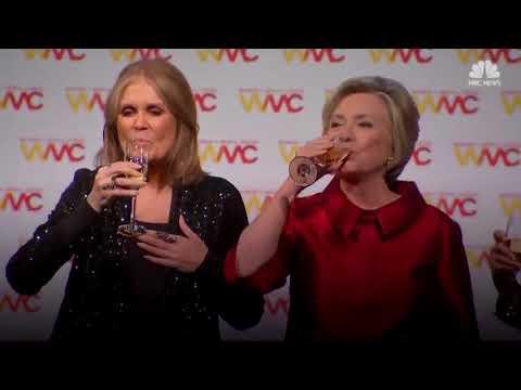 Watch Jane Fonda, Gloria Steinem, and Pat Mitchell sing 'Happy Birthday' to Hillary Clinton