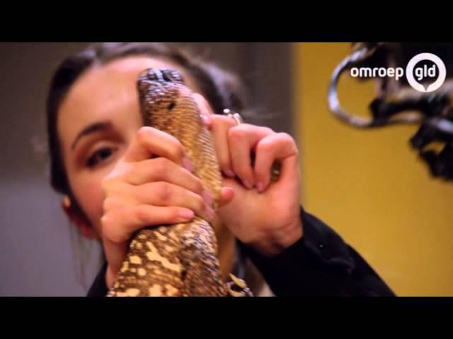 Sterrin staat in Wageningen met meterslange cobra op de planken