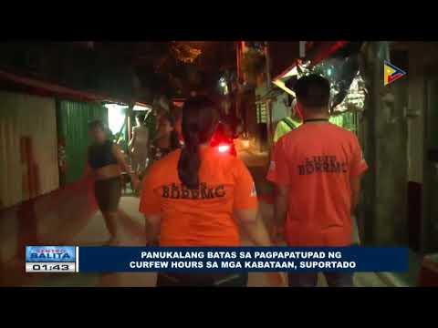 Panukalang batas sa pagpapatupad ng curfew hours sa mga kabataan, suportado