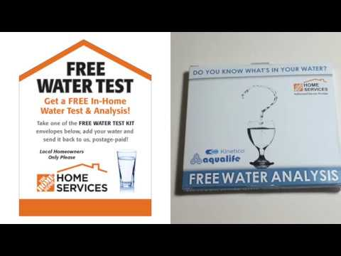 FREE Water Test Kit Picked At Home Depot