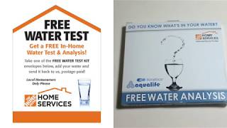 Free Water Test Kit Picked At Home Depot Youtube