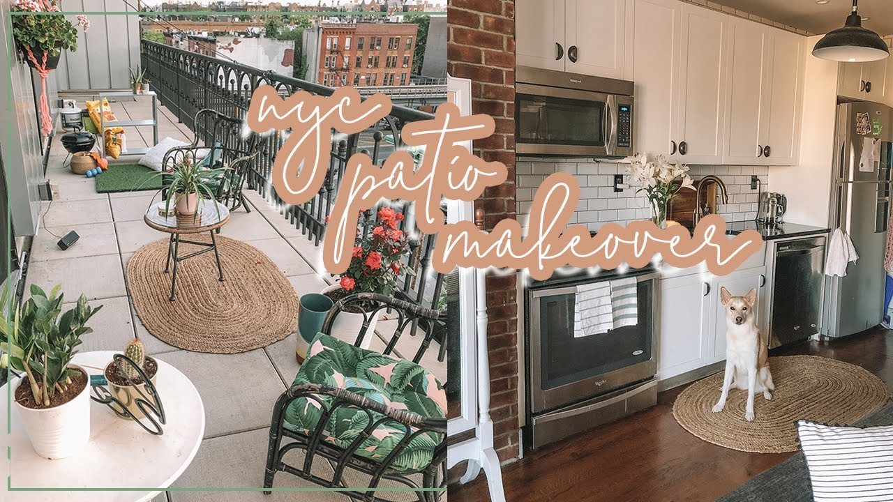 NYC Apartment Patio MAKEOVER! + IKEA HOME DECOR SHOPPING 🌵🛋  Antonnette
