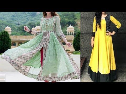 Casual Long Anarkali Kurti Dress Designs | Long Anarkali Frock Designs 2020 For Summers