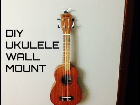 how to make a ukulele wall mount youtube. Black Bedroom Furniture Sets. Home Design Ideas