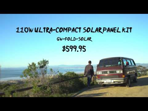 110W Ultra-Compact Solar Panel Kit