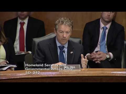 """Sen. Rand Paul at HSGAC Hearing on """"Right to Try"""" - Sept. 22, 2016"""