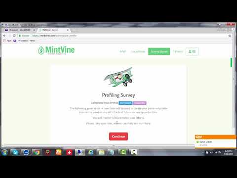 How to create MintVine Survey Account | How to complete MintVine Survey Setting Profile 2017