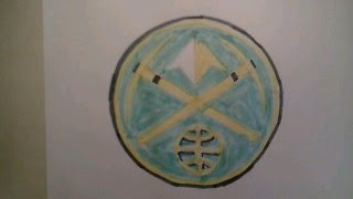 How To Draw Denver Nuggets Logo Sign Easy Step By Tutorial For Begainners