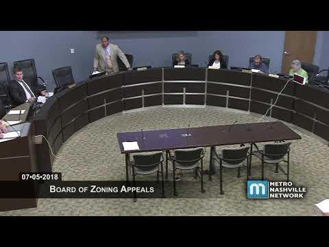 07/05/18 Zoning Appeals Board