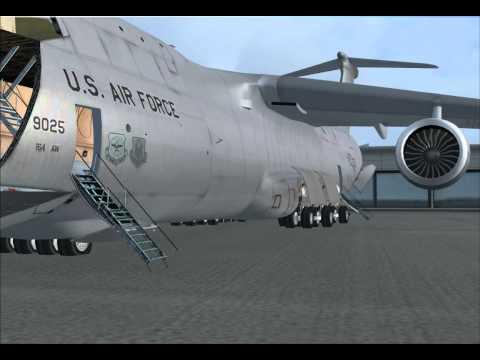 USAF AIR NATIONAL GUARD C-5 GALAXY - PRE FLIGHT LOADING & START UP