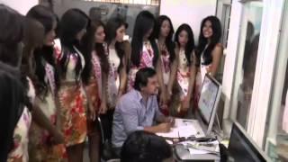 16 bellas Candidatas a Miss Teeen visitan la prensa