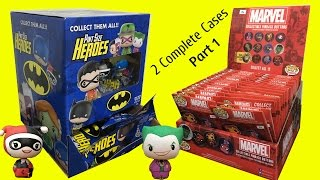 Funko Pint Size Heroes Dc Mystery Minis & Marvel Pins Blind Bags Case Opening Part 1