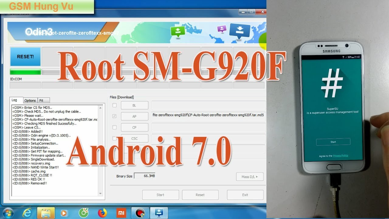 Root Samsung G920F Android 7 0 by Odin