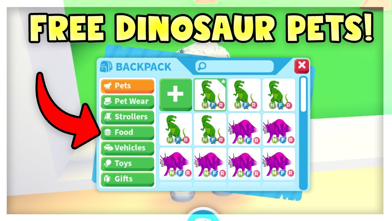 New Dinosaur Pets In Adopt Me Get A Free Dino Pet Easy Roblox Youtube