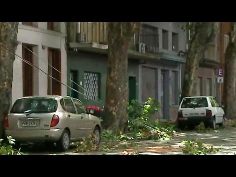 Los daños que dejó el temporal: Cami recorre Montevideo