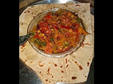 madipu-chapati-with-tomato-chutney-(-folding-chapati-)