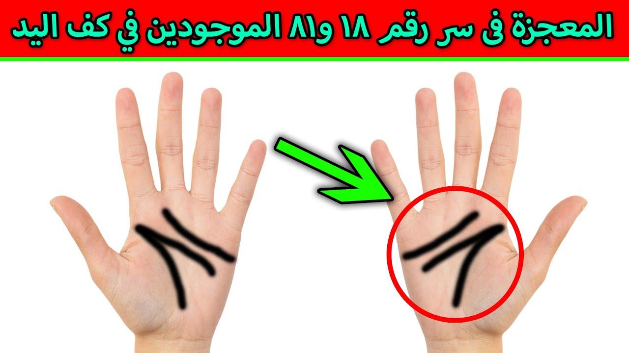 ماهى المعجزة فى سر رقم ١٨ و٨١ الموجودين في كف اليد ؟ سبحان الله !!