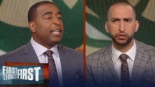 Nick Wright and Cris Carter disagree who's the best player in the East | NBA | FIRST THINGS FIRST