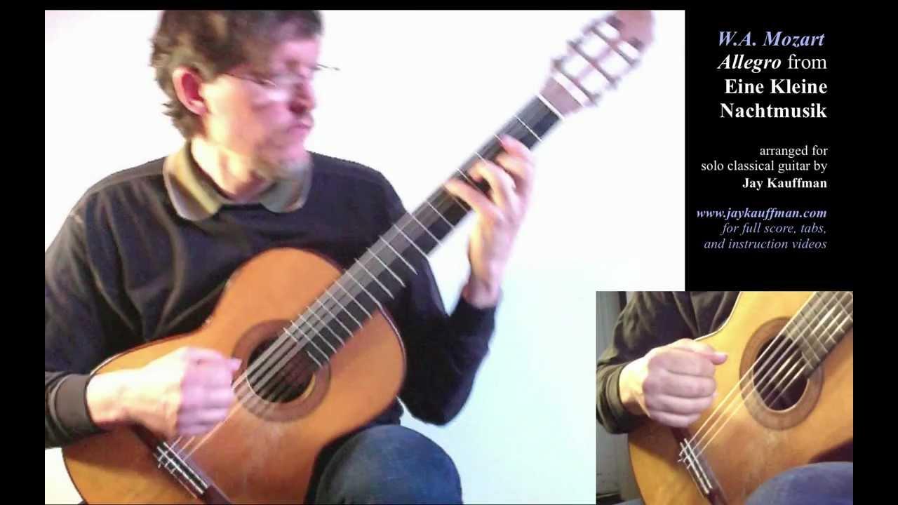 Mozart's Eine Kleine Nachtmusik (Allegro) for Solo Classical Guitar
