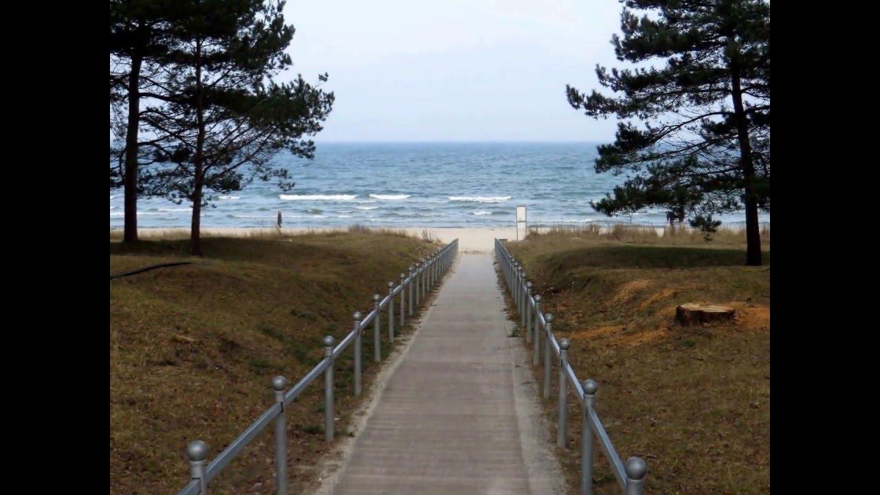 Wo Die Ostseewellen Trecken An Den Strand