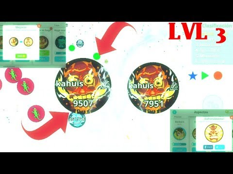 AGARIO MOBILE MACRO FEED HACK UNLOCKING LVL 3 SKINS FIRE GIANT ANIMATED SOLO VS 99 NOOBS