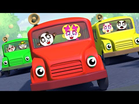 Wheels on the Bus | Panda Bo Nursery Rhymes & Kids Songs
