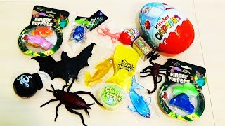 TOYS slime GERMS Fungus Amongus rubber insects and MEGA KINDER SURPRISE eggs 220 grams