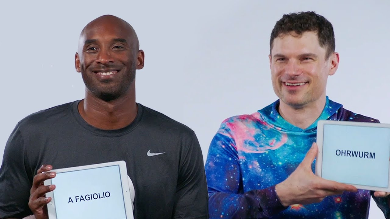 Kobe Bryant and Flula Borg Teach You Italian and German Slang