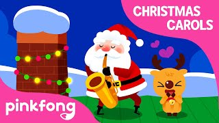 Santa Comes Down Chimneys   クリスマスソング   ピンキッツ英語童謡