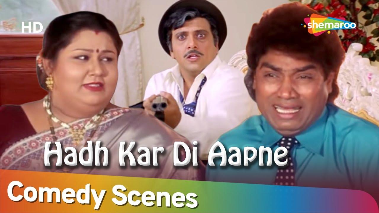 Best Comedy Scenes | Movie Hadh Kar Di Aapne | Johny Lever - Govinda- Paresh Rawal
