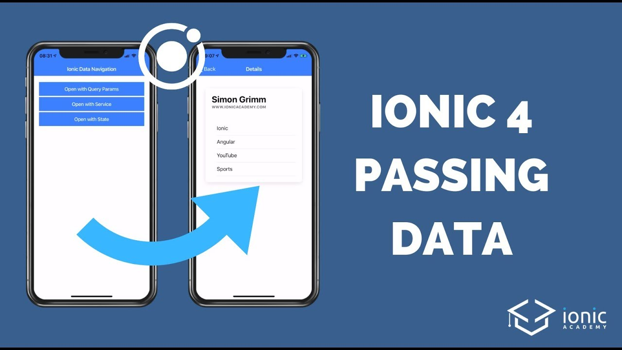 How to Pass Data with Angular Router in Ionic 4