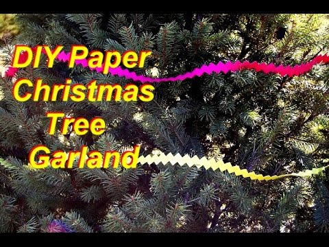 How to Make a Christmas Tree Garland out of Scrapbooking Paper