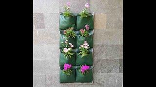 Green Wall Planter Bags 15 Pocket Planter Bag Dinding Easy Grow