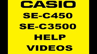 Casio se-c450 setting up product names and prices
