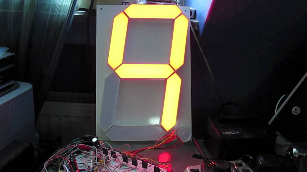 12 Quot Inch 7 Segment Led Single Digit Counter Demo By