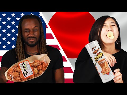 American & Japanese People Swap Snacks
