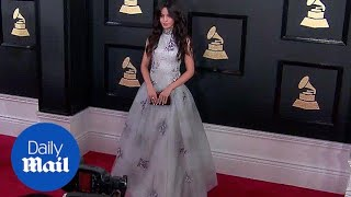 Gorgeous! Camila Cabello at first Grammys without Fifth Harmony - Daily Mail
