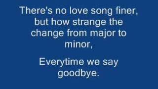 Everytime We Say Goodbye Ella Fitzgerald By Cey