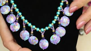 Stringing A Lentil Drop Necklace with Polymer Clay Beads, Jewelry Tutorial