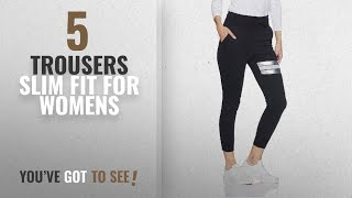 Top 10 Trousers Slim Fit For Womens [2018]: Sugr Women's Slim Fit Cotton Pants