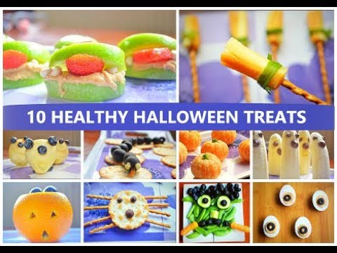 10 HEALTHY HALLOWEEN TREATS / DIY HALLOWEEN SNACKS /HEALTHY KIDS TREATS