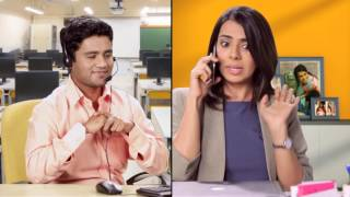 Employee calls Fokat Call Center - Office boy never listens to her - Episode 6 - Comedy One