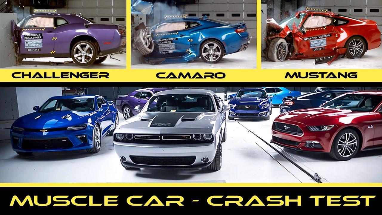 crash test 2016 american muscle car mustang vs camaro vs. Black Bedroom Furniture Sets. Home Design Ideas