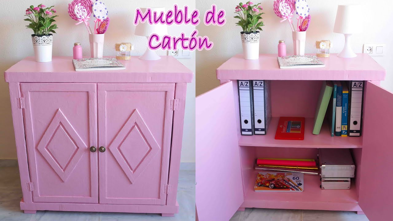 Tutorial mueble de cart n vintage mery youtube - Muebles en carton ...