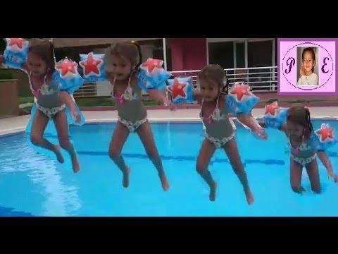 Havuzda ⛲ atladık.elif kolluk olmadan...