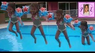 Havuzda ⛲ atladık.elif kolluk olmadan yüzmeyi deniyor :))).Eğlenceli çocuk videosu