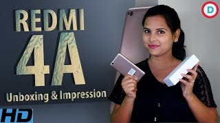 Redmi 4A Unboxing & Impression In Hindi | Best Low-Budgeted Smartphone